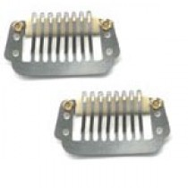 Hair Clips - Silver Large x2-BOGOF