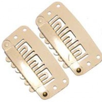 Hair Clips - Blonde Small-12 pack