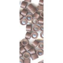 100x Light Brown MicroRings / Linkies