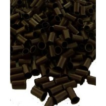 Hair Extension Microtubes small pack-100 x #5 Brown