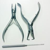 Zen I-tip (stick-tip) applicator kit for prebonded hair (Hook tool)