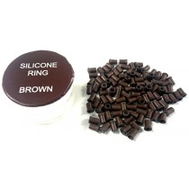 Zen Hair Extension  Silicon Lined Microtubes-Brown x 200  (Linkies)
