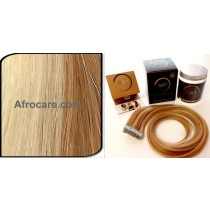 Zen Luxury, Pretaped Hair extensions 22 inch Colour P27-613