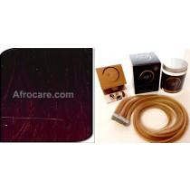 Zen Luxury, Pretaped Hair extensions 22 inch Colour T400-Burg