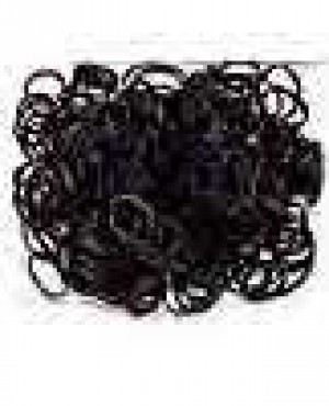 250 Rubber Bands Black