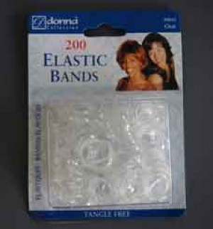 200 Clear Elastic Bands